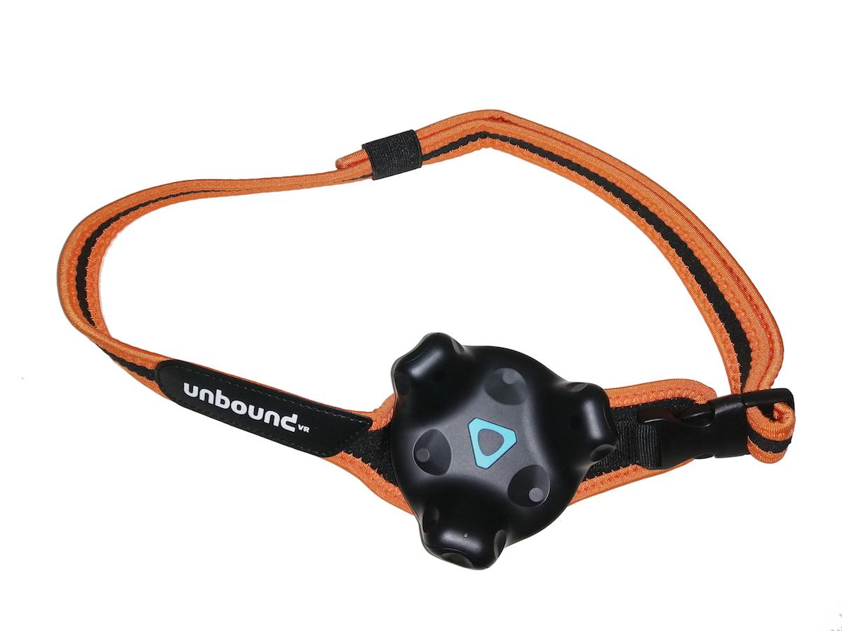 Gebruik de vr tracker belt om jouw virtual reality nog meer tot leven te brengen. bevestig een htc vive ...