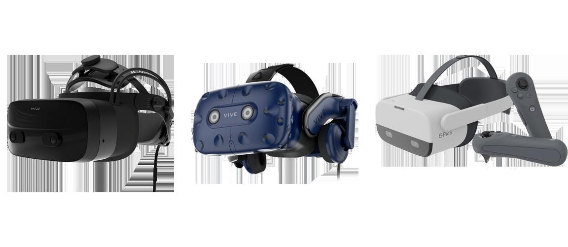 Varjo VR-3, HTC Vive Pro, Pico Neo 2