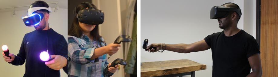 HTC VIVE, PSVR en Oculus Quest tracking